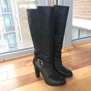 Banana Republic knee-high stacked boots